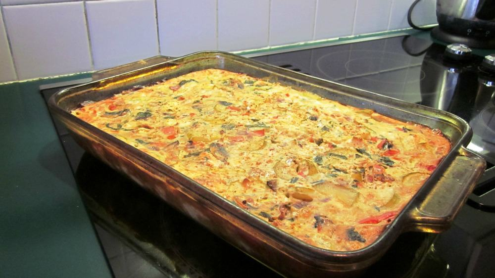 Crustless Quiche with Zucchini and Mushrooms
