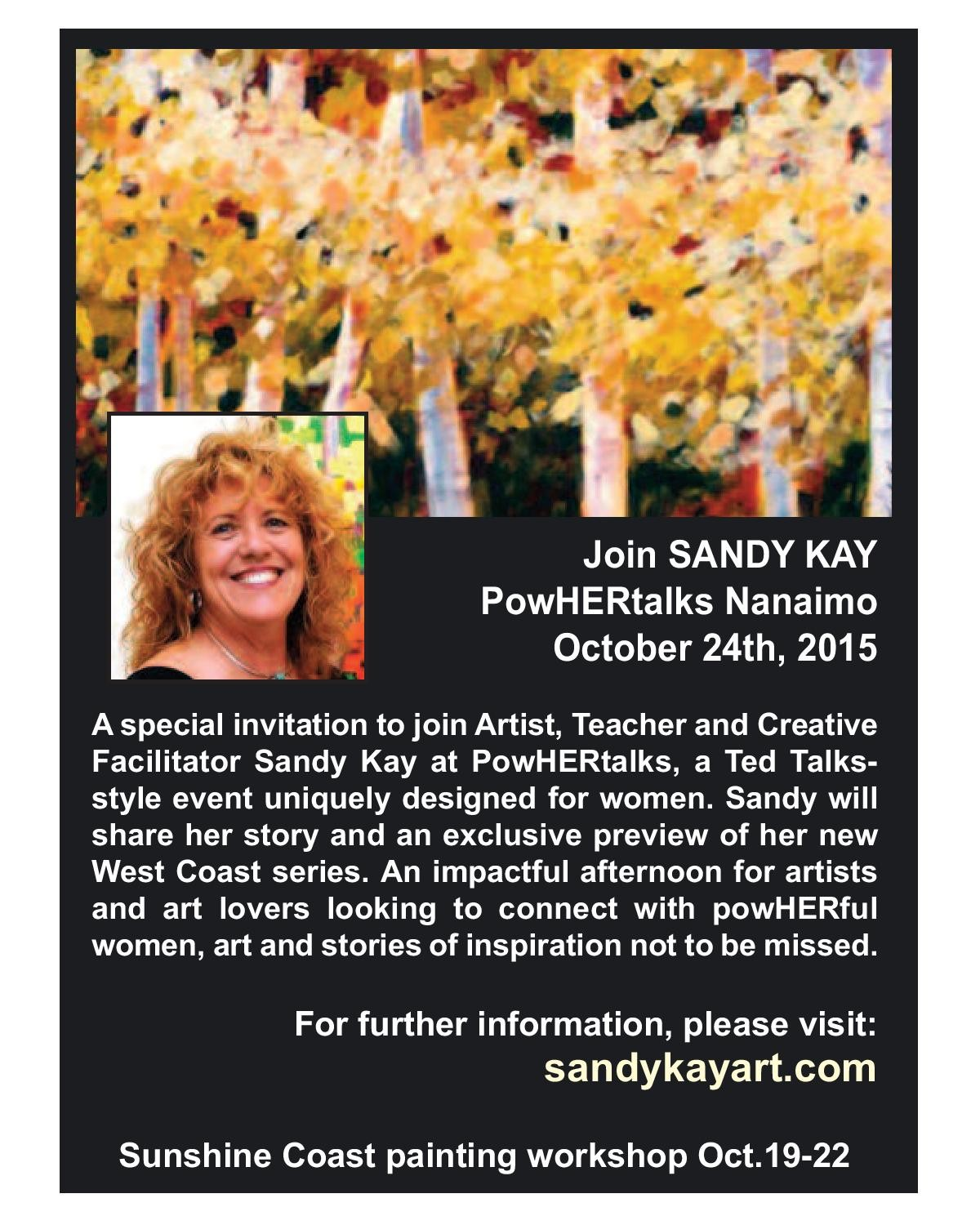 PowHERtalks Nanaimo |  Sandy Kay
