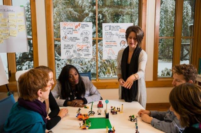 Kelly facilitating - lego