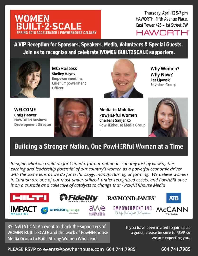 WOMEN BUILT2SCALE |  VIP + MEDIA RECEPTION, THURSDAY, APRIL 12, 2018