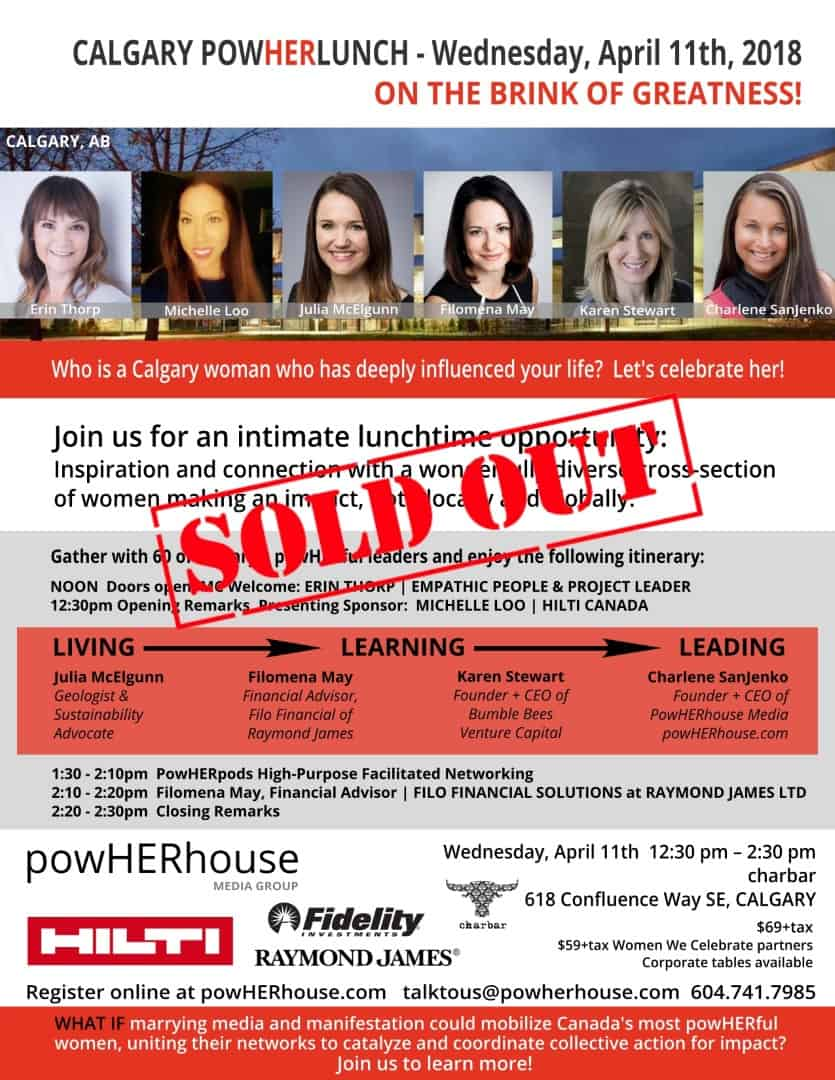 PowHERhouse Lunch CALGARY April 11 2018 SOLD OUT (Large)