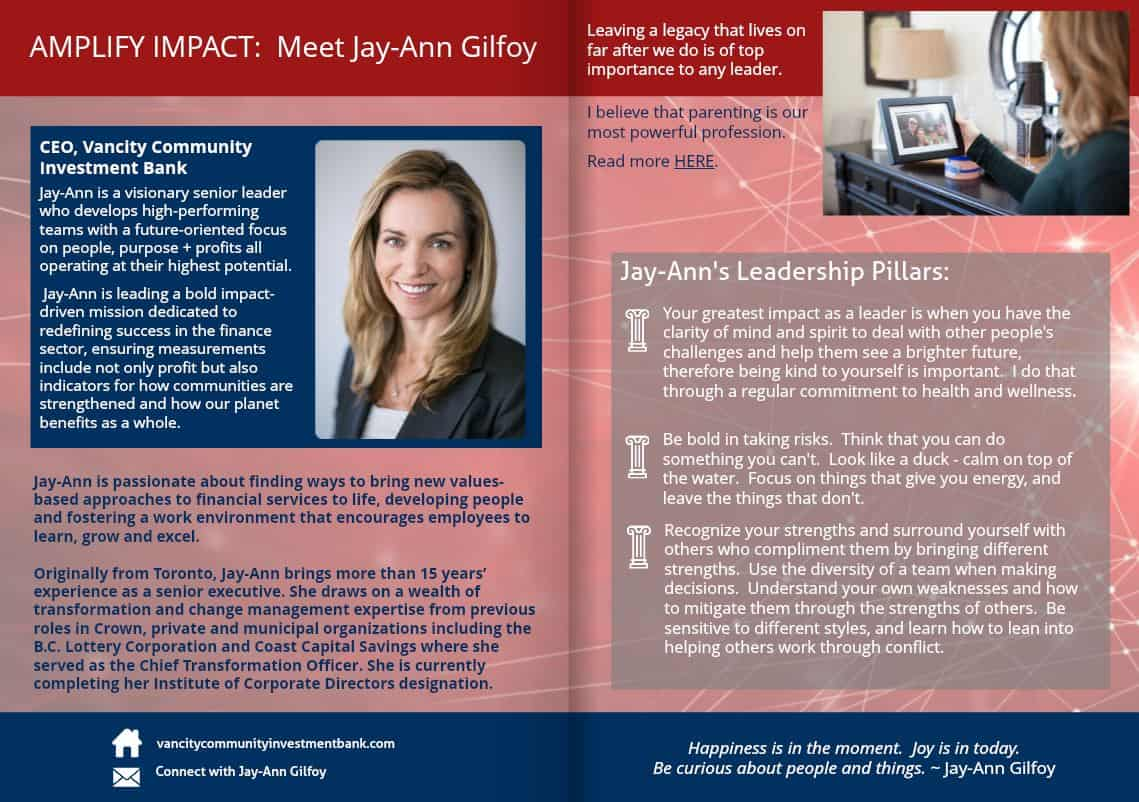 Jay-Ann Gilfoy - mag spread