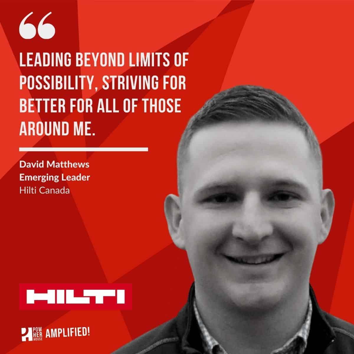 Hilti profile - David Matthews